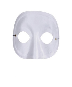 White Masquerade Adult Mask
