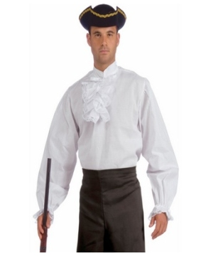 White Ruffled Shirt Men Costume
