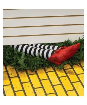 Wicked Witch Legs Halloween Decoration