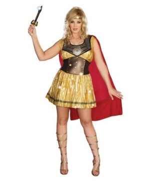 Golden Warrior Women's plus size Costume