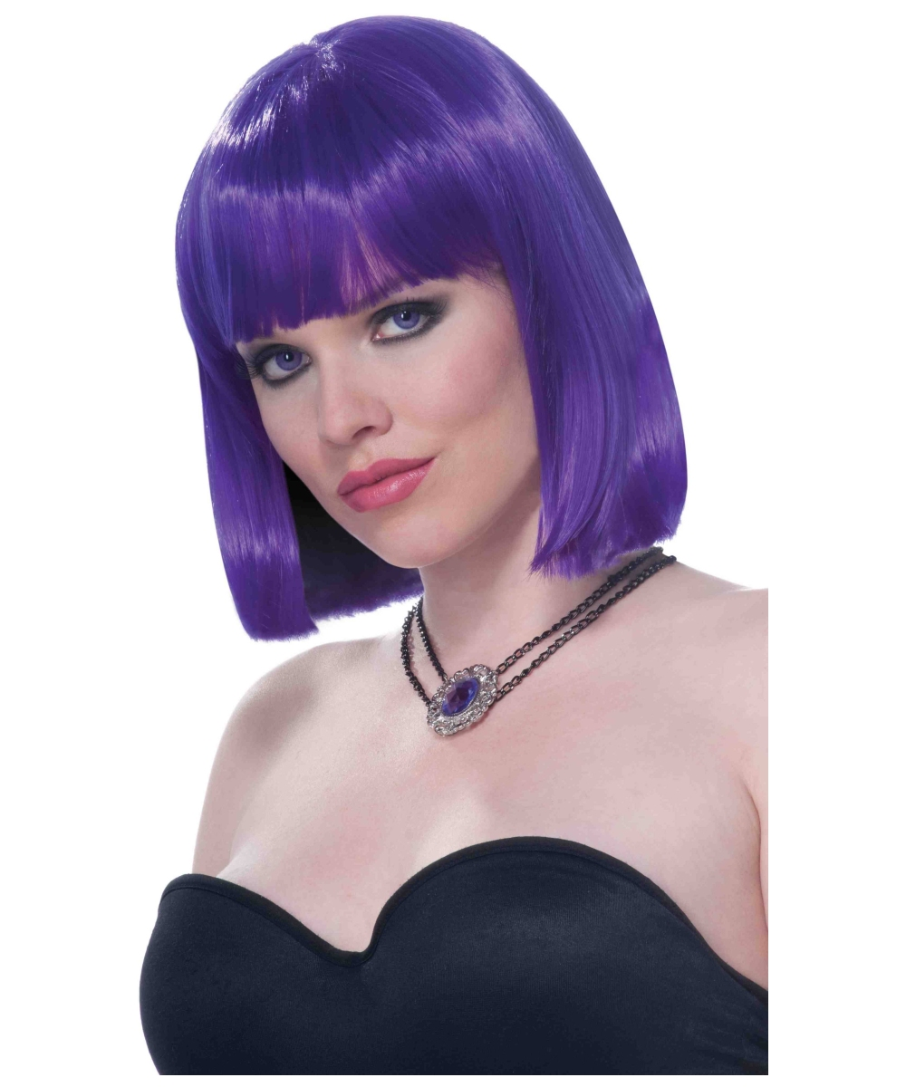 adult purple vibe wig halloween costume wigs