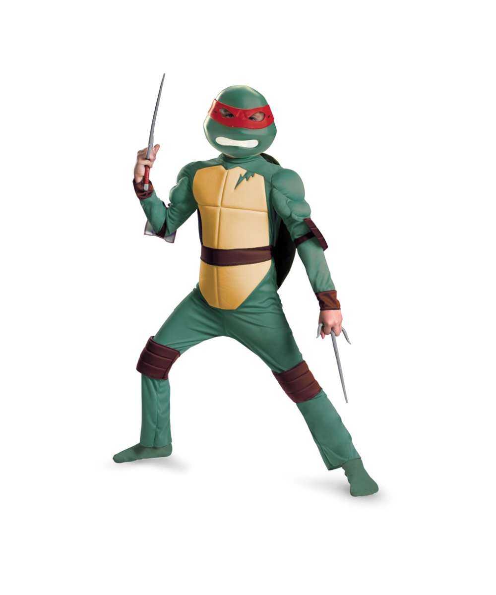 c72d3eaf237 Teenage Mutant Ninja Turtles Raphael Muscle Kids Costume - Boys Ninja  Costume