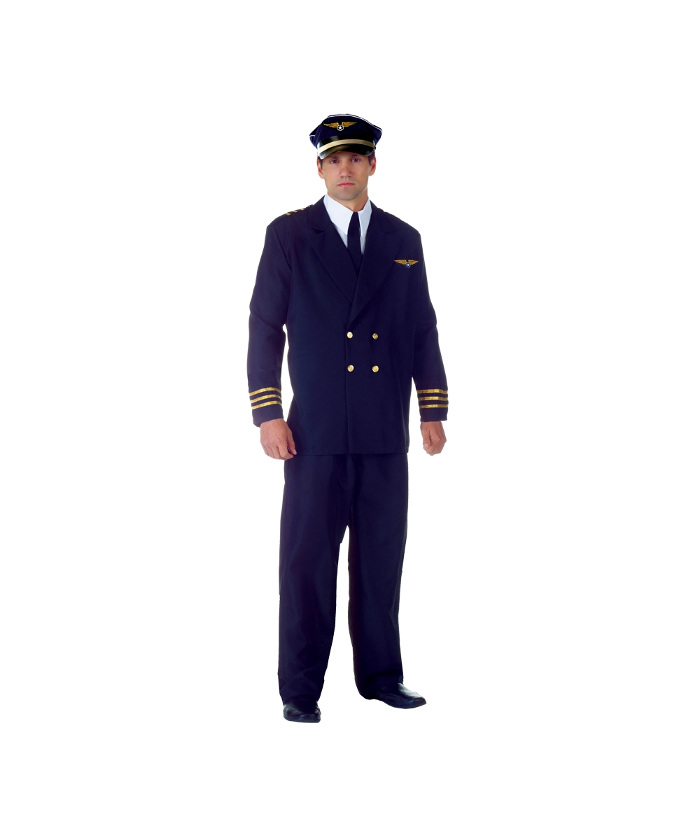 sc 1 st  Halloween Costumes & Adult Airline Captain Pilot Costume - Men Costumes