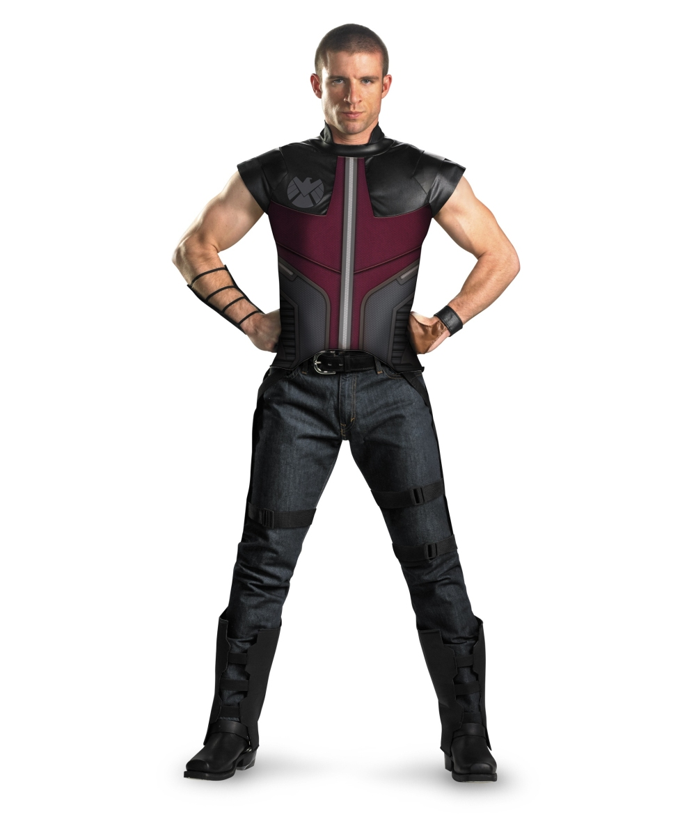 sc 1 st  Wonder Costumes & Adult Avengers Hawkeye Movie Superhero Costume - Men Costumes