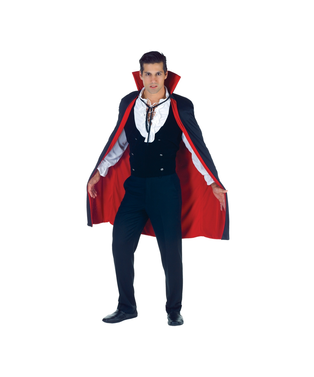 Adult Black And Red Cape Halloween Vampire Cape Unisex