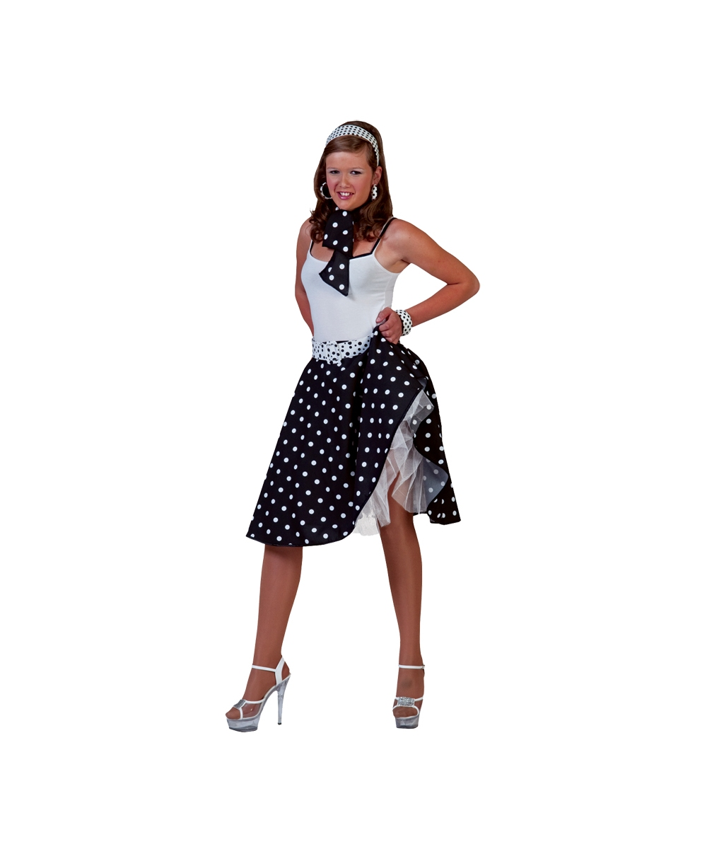 Adult Black Sock Hop Costume - Women Sock Hop Costumes