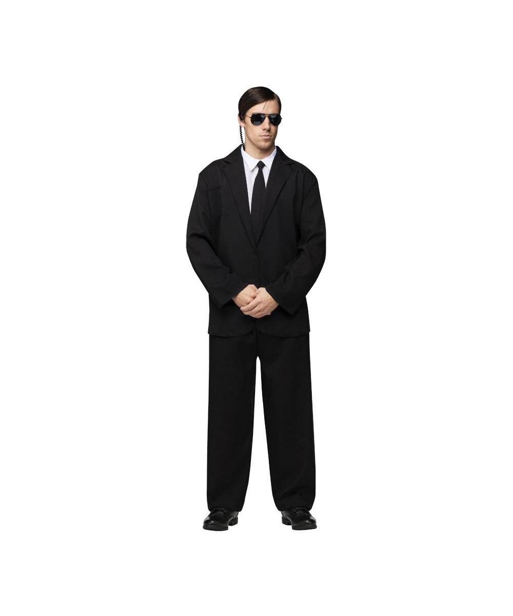 Adult Black Suit Movie Halloween Costume