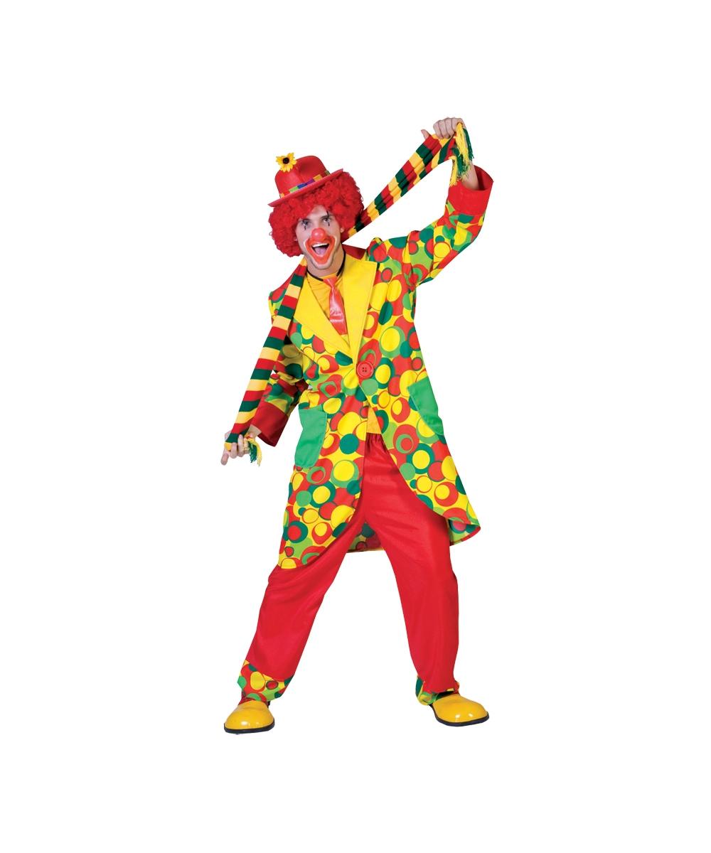 sc 1 st  Halloween Costumes & Clown Bubbles Adult Costume - Men Clown Costumes
