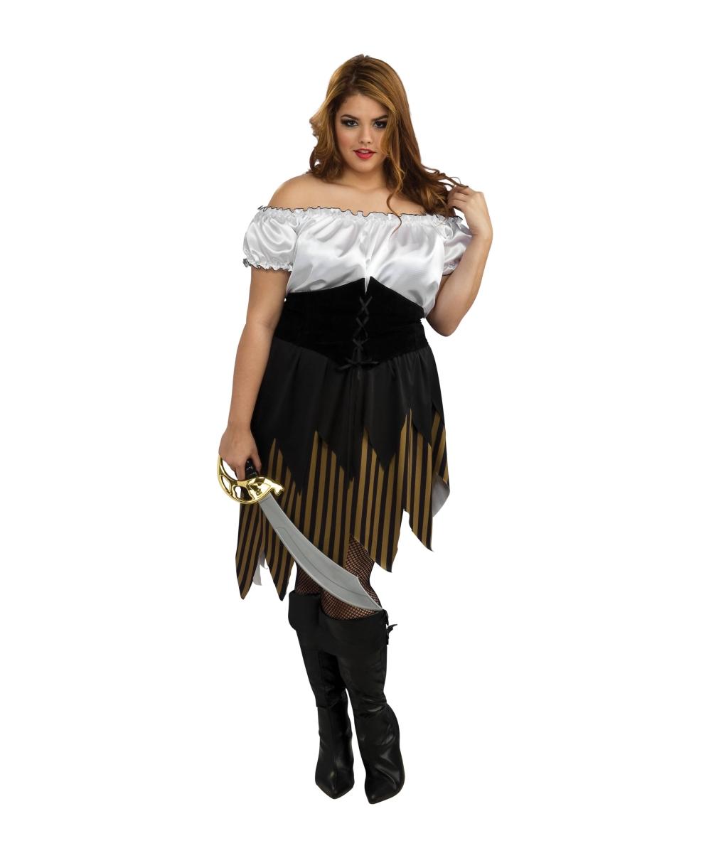 Adult Buccaneer Girl plus size Pirate Halloween Costume - Women Costumes