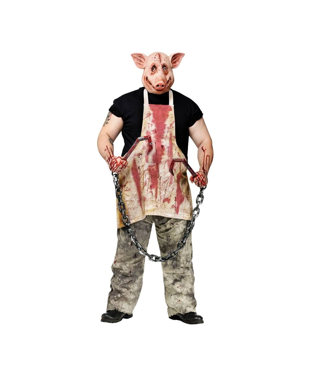adult butcher pig scary halloween costume - adult costumes