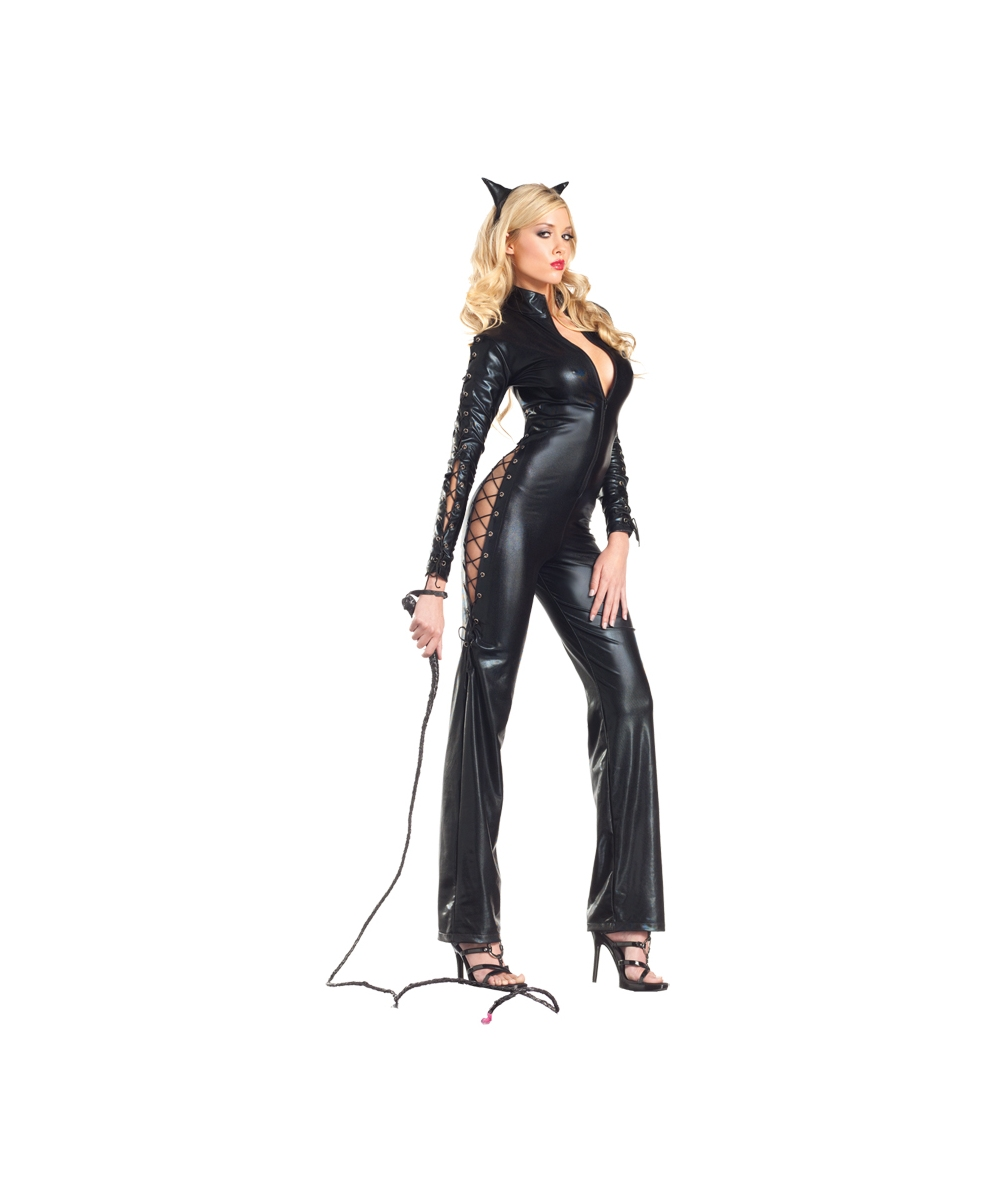 Two Faced Catwoman Women Costume  sc 1 st  Wonder Costumes & Catwoman Two Faced Adult Costume - Women Movie Costumes