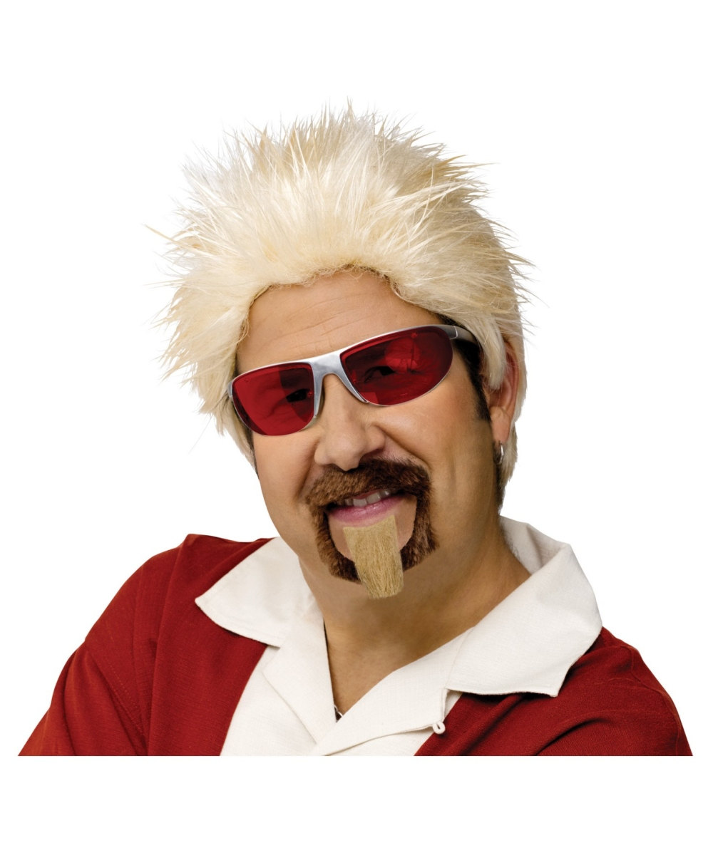 celebrity chef wig and goatee - men halloween costume