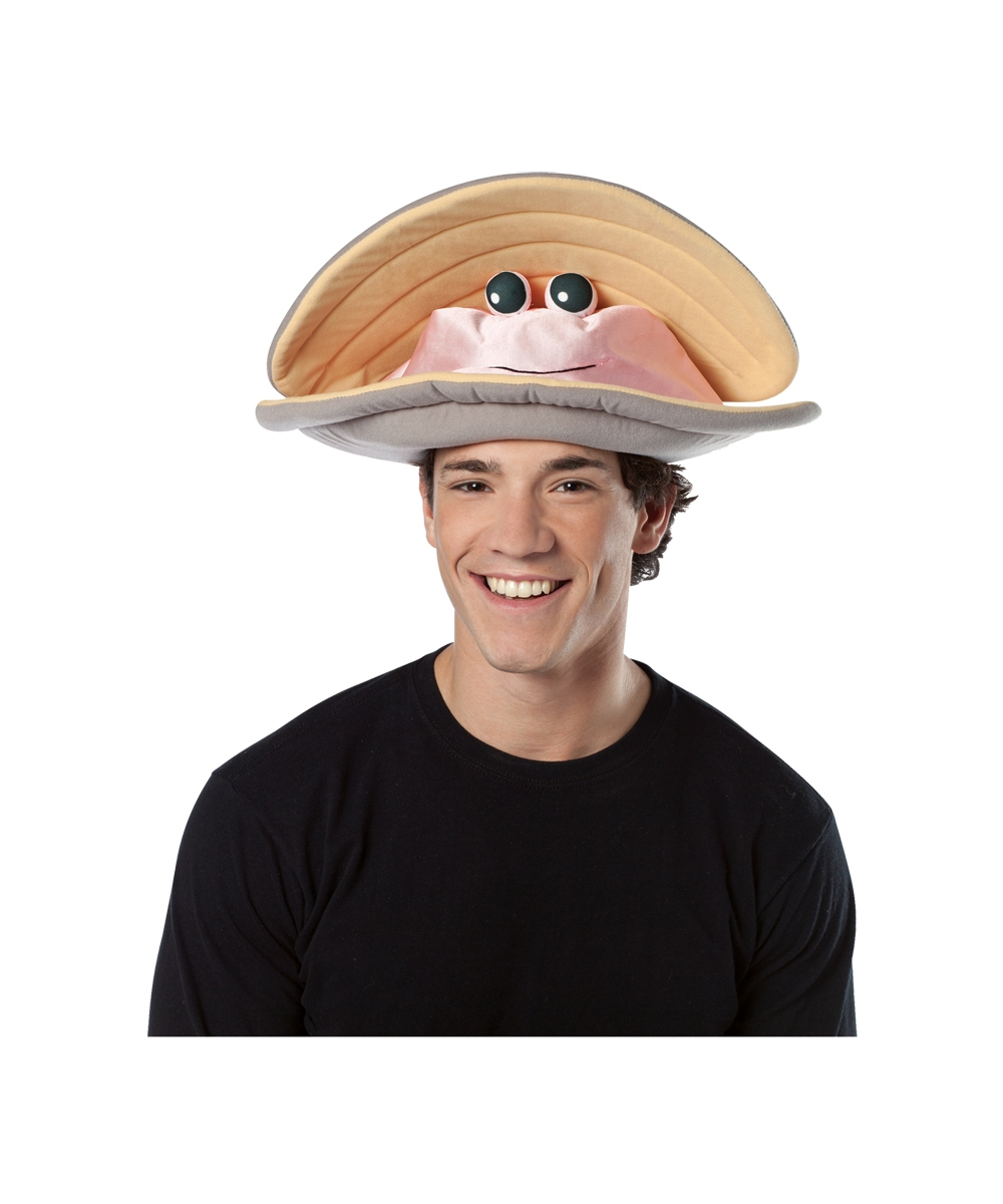 Adult Clam Halloween Hat Adult Funny Clam Hat