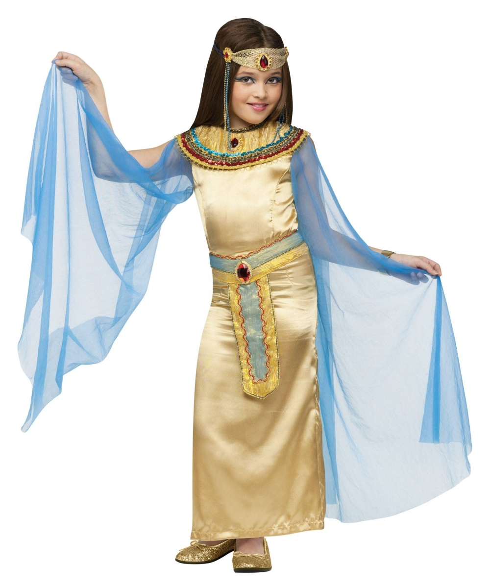Cleopatra Girls Halloween Costume Deluxe  sc 1 st  Wonder Costumes & Cleopatra Kids Egyptian Costume - Cleopatra Egyptian Costumes