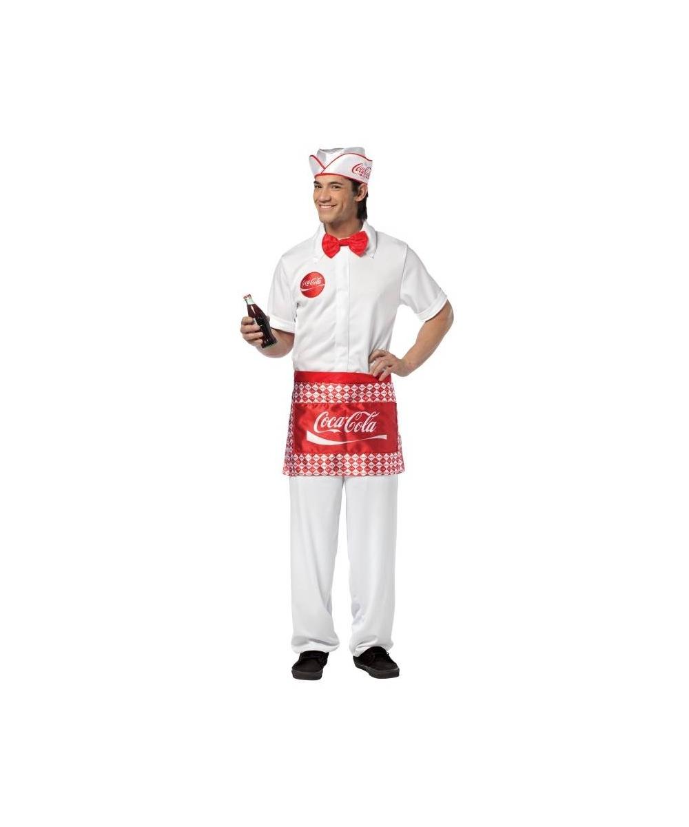 sc 1 st  Wonder Costumes & Adult Coca Cola Soda Jerk Man Costume - 50u0027s Adult Costumes for Men