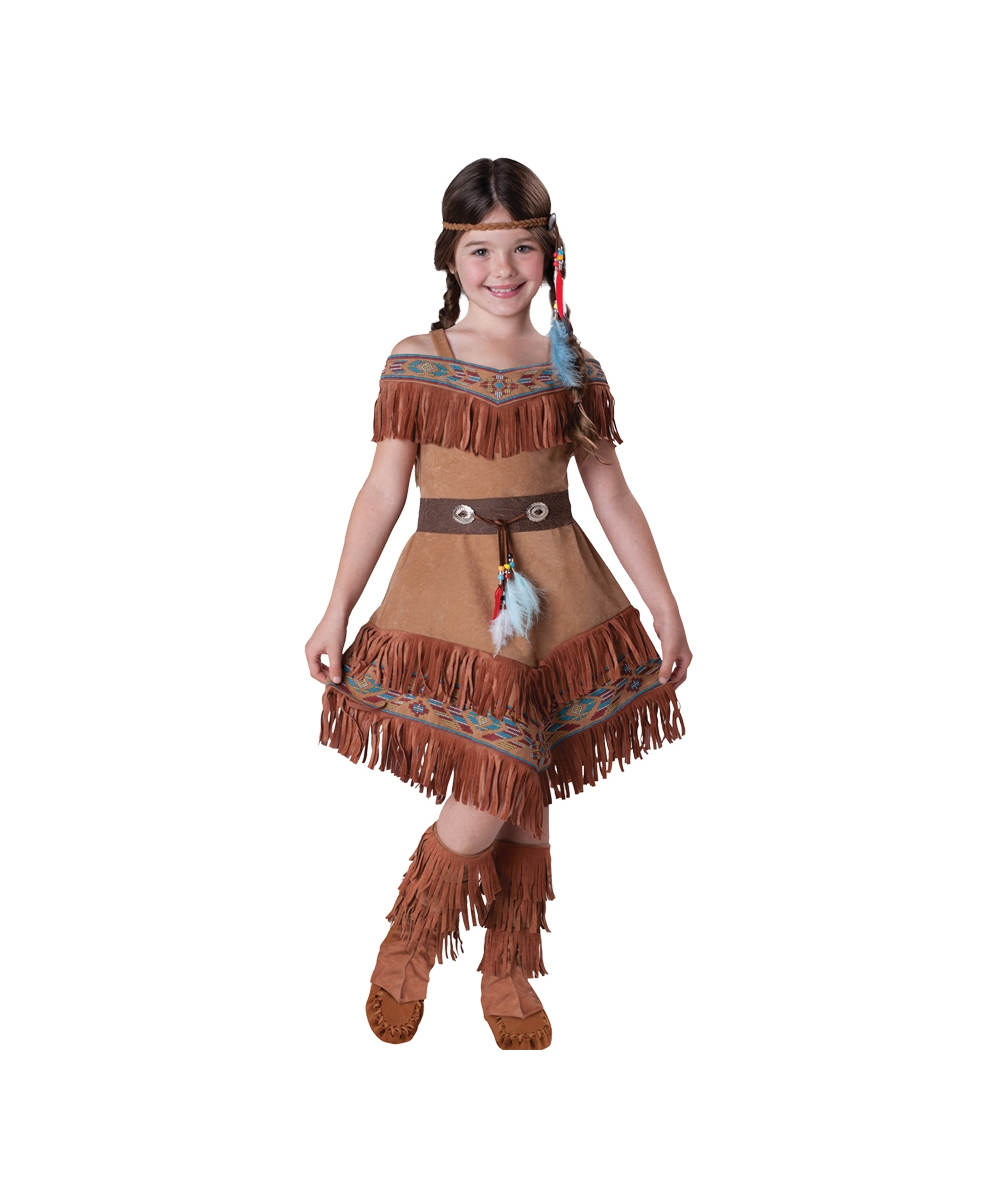 sc 1 st  Wonder Costumes & Elegant Indian Maiden Kids Costume - Indian Girl Costumes