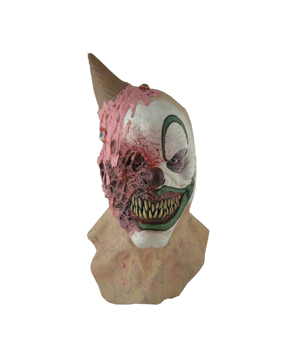 eye scream clown adult mask