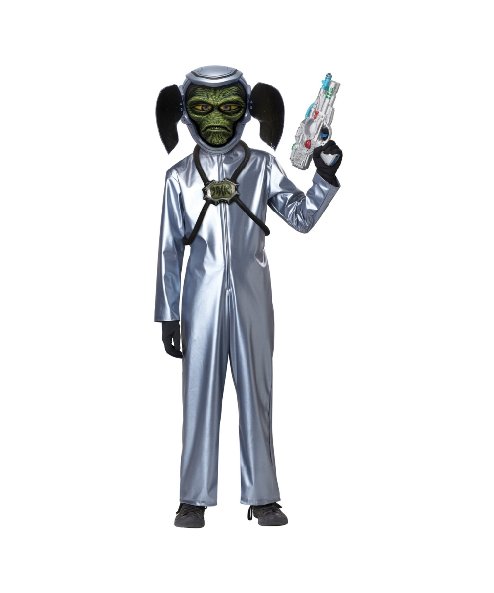sc 1 st  Wonder Costumes & First Contact Kids Costume - Boys Alien Costume for Halloween