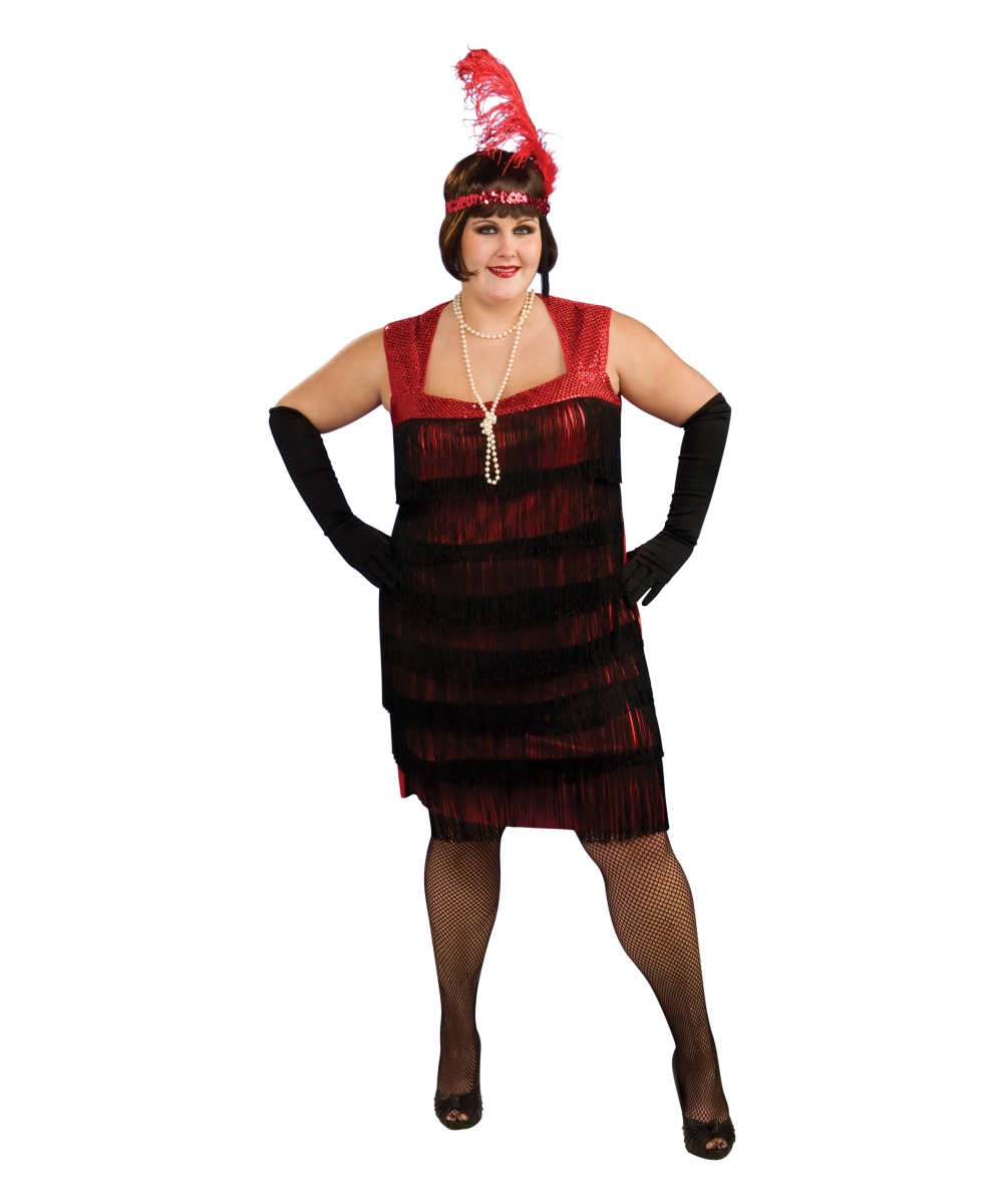 flapper plus size adult costume - women flapper costumes