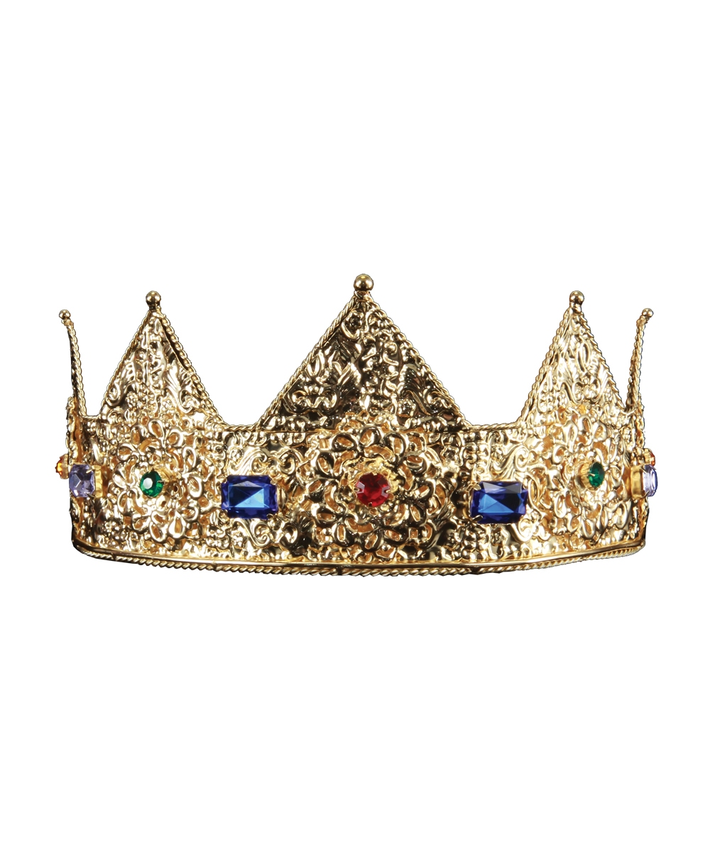 Gold Crown Halloween Costume Hats For Adults