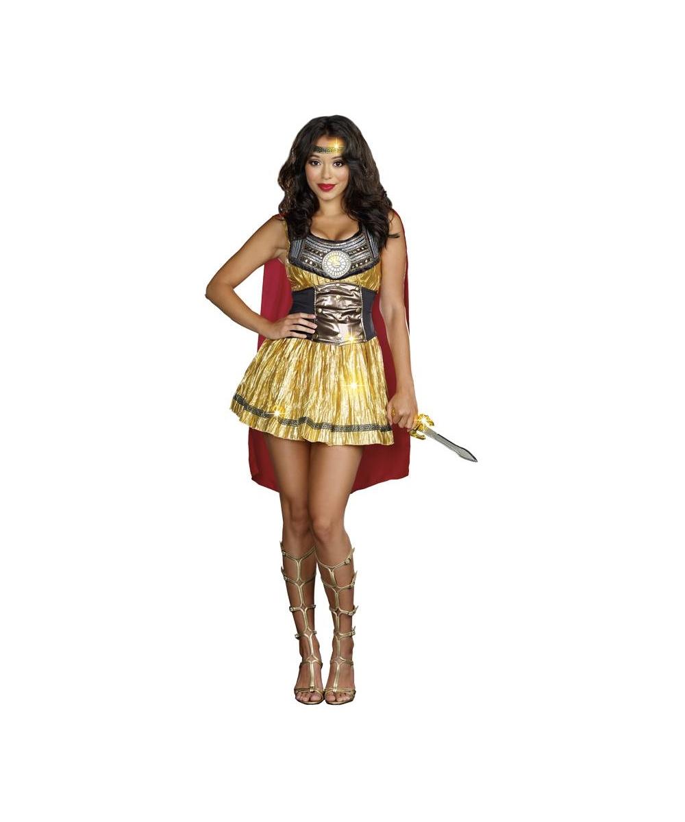 Roman Gladiator Adult Costume Golden - Women Roman Costumes