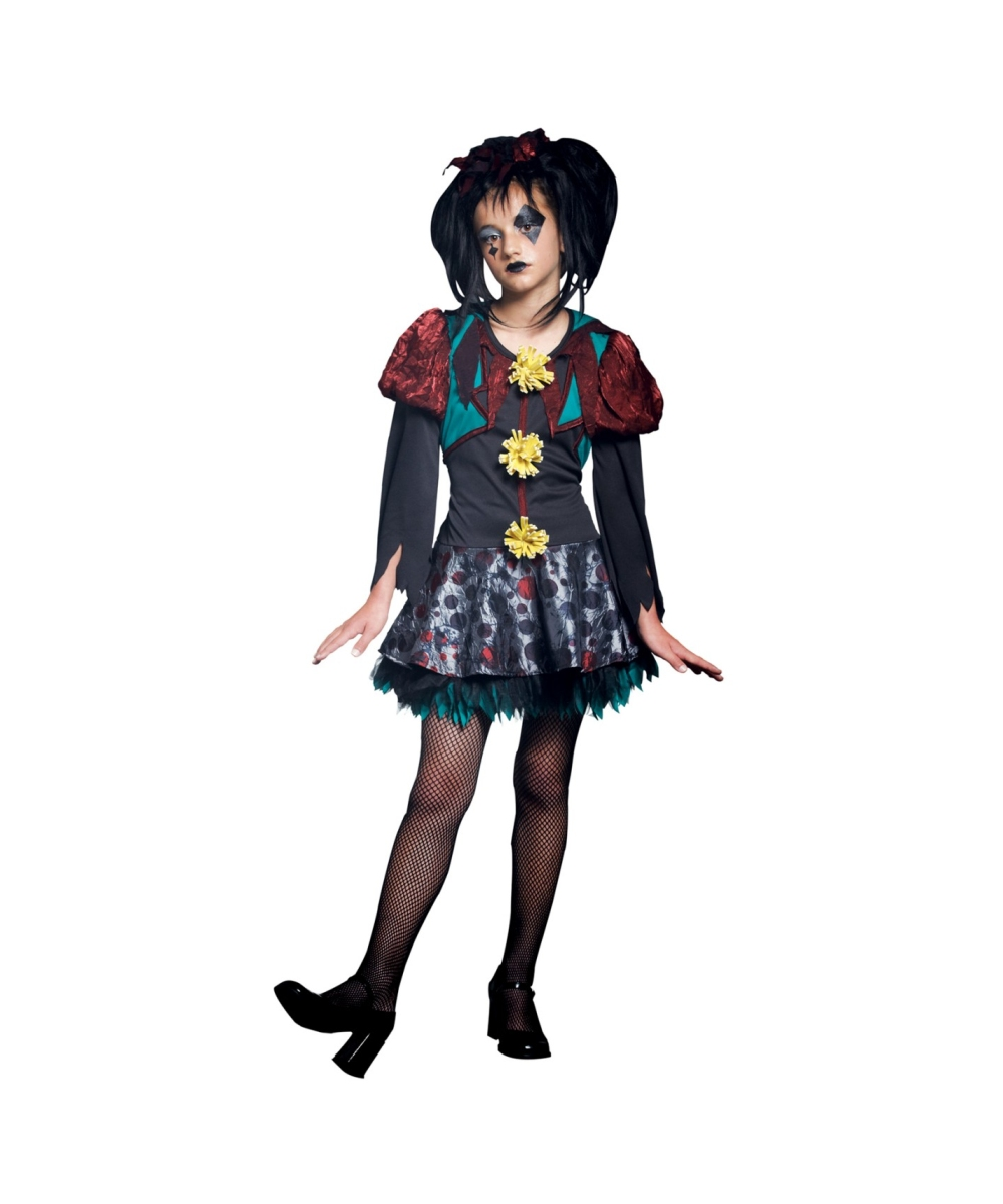 gothic scary merry girl halloween costume - girls costumes