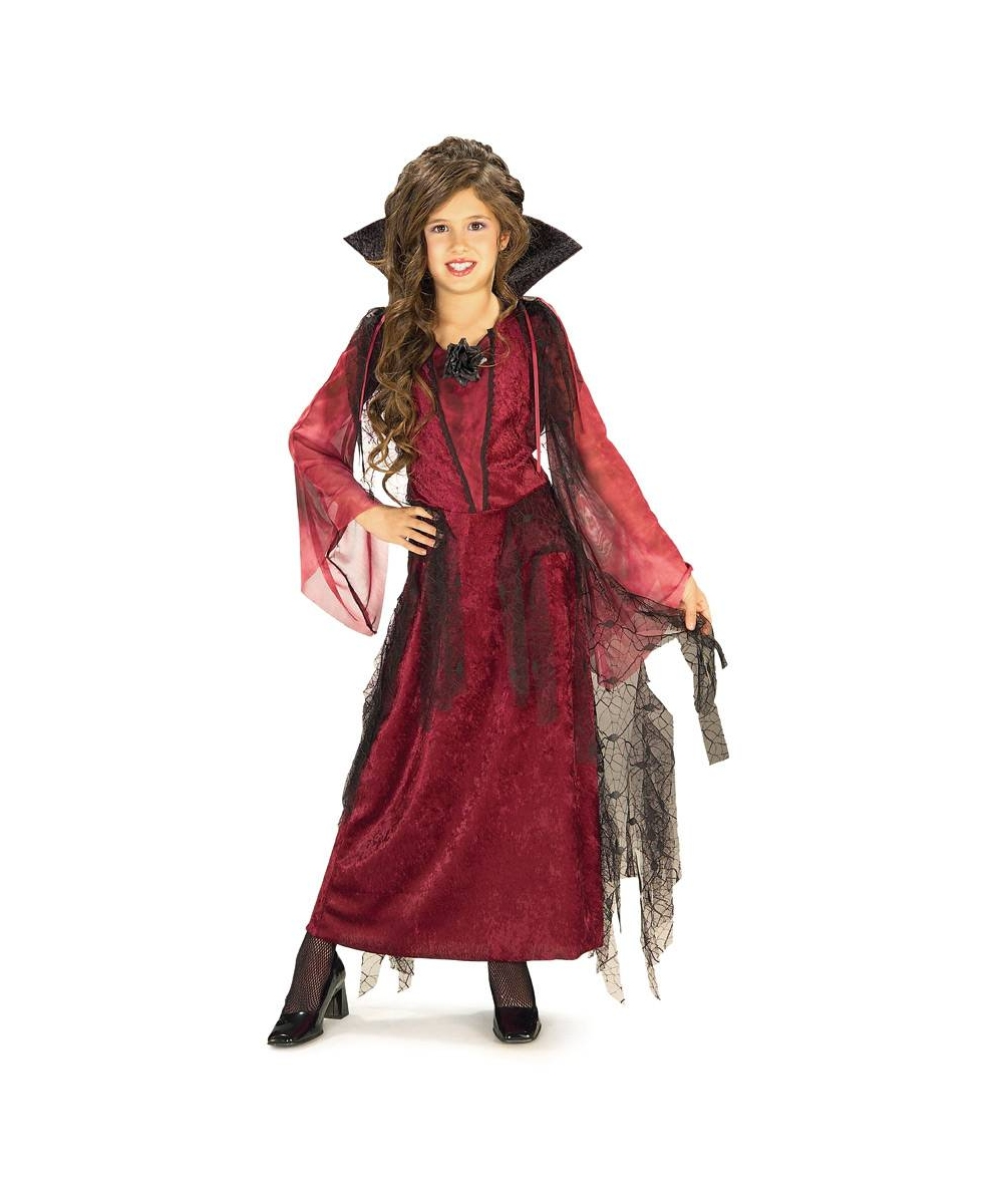Gothic V&iress Girl Costume  sc 1 st  Wonder Costumes : cheap vampire costume  - Germanpascual.Com