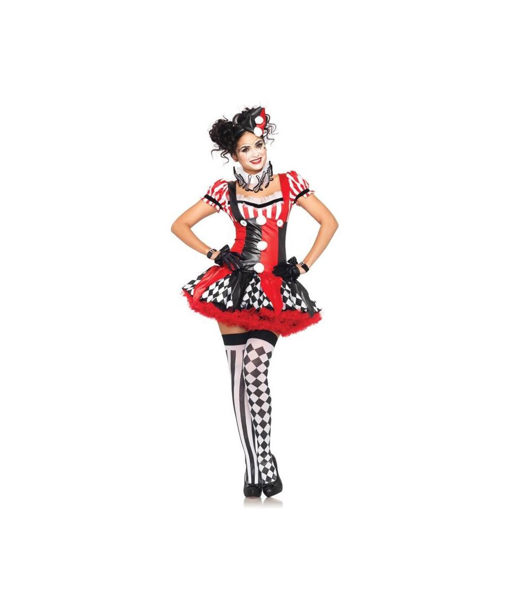 clown harlequin adult costume women clown costumes. Black Bedroom Furniture Sets. Home Design Ideas