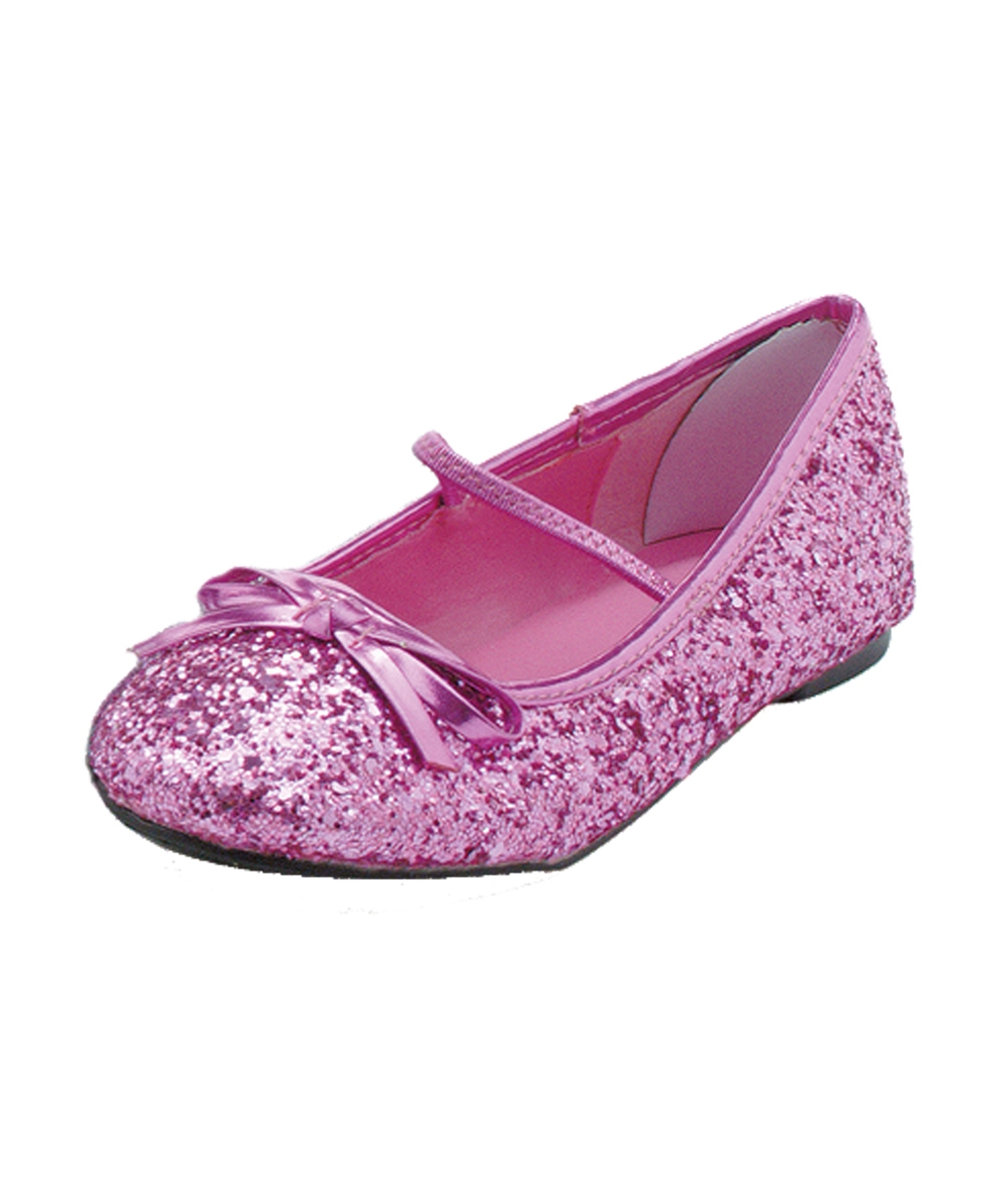 Kids Ballet Glitter Shoes Pink