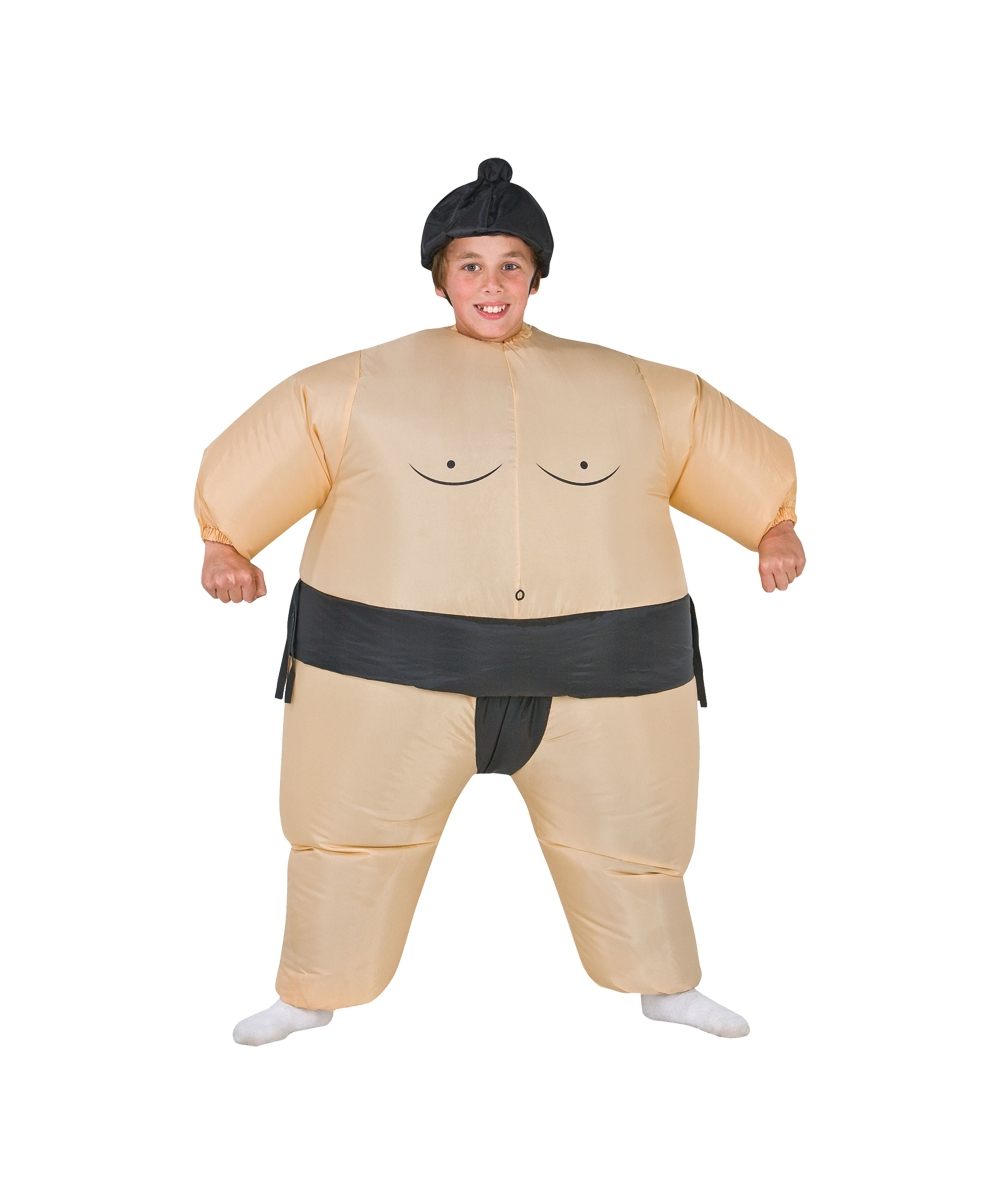 inflatable sumo kids costume - funny halloween costumes