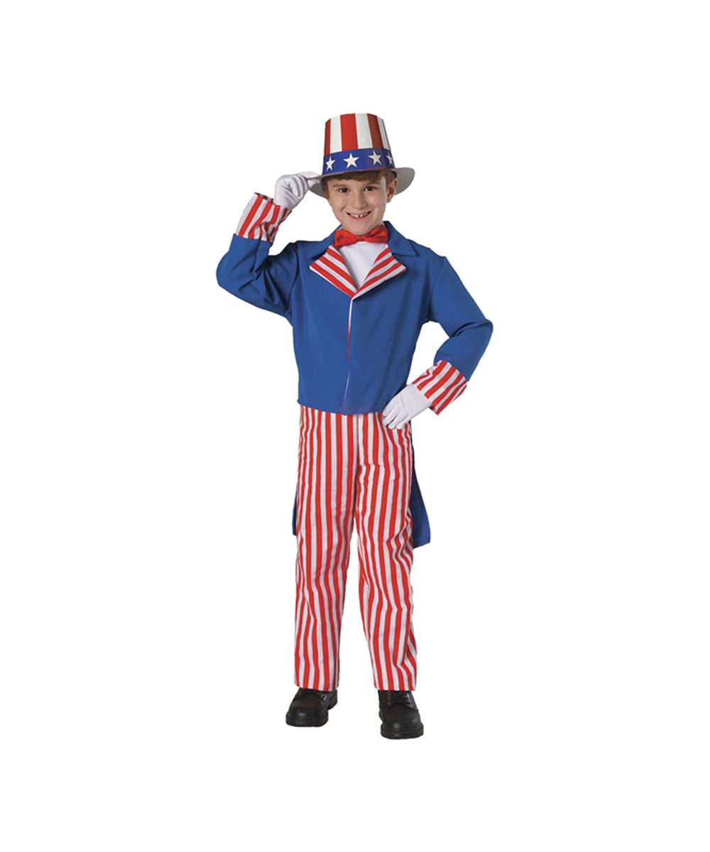 UNCLE SAM ADULT AMERICAN MENS FANCY DRESS HALLOWEEN COSTUME
