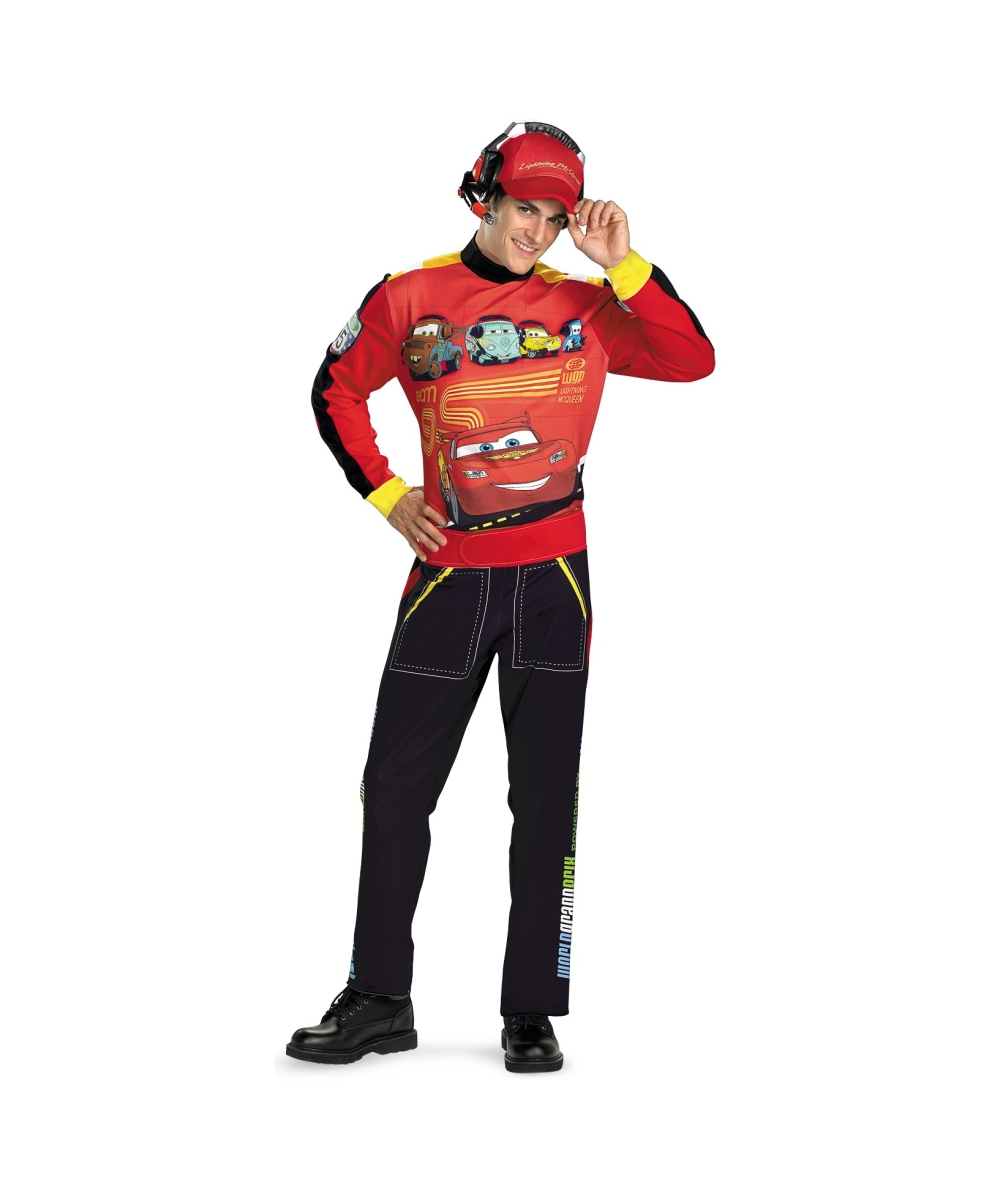 sc 1 st  Halloween Costumes & Disney Cars Lightning Mcqueen Adult Costume - Men Disney Costumes
