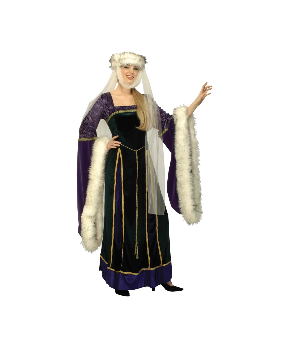 Medieval Lady Womenu0027s Costume  sc 1 st  Halloween Costumes & Adult Medieval Lady Roman Costume - Women Costumes