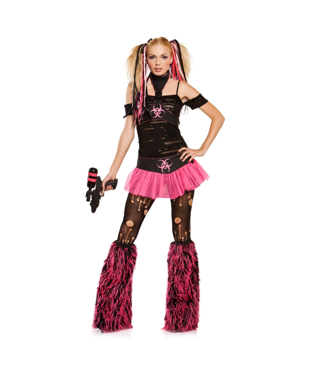 adult miss cyanide punk halloween costume - halloween costumes