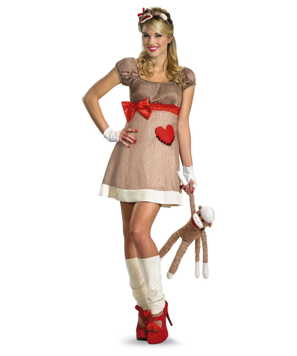Ms Sock Monkey Womens Costume