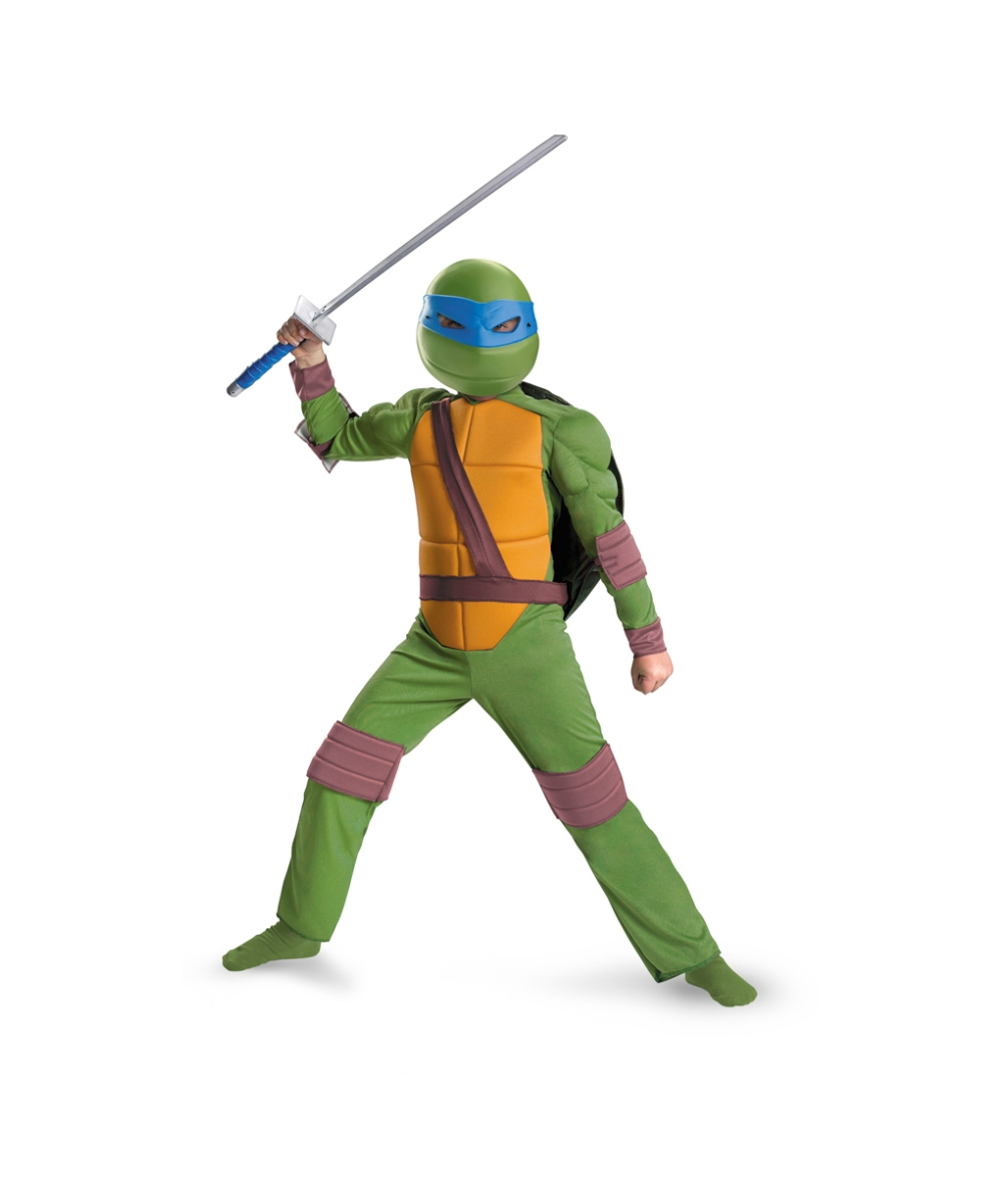 kids mutant ninja turtles leonardo costume - ninja boys costume