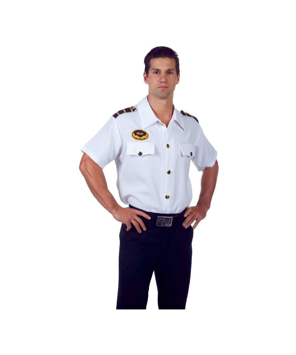 sc 1 st  Wonder Costumes & Pilot Shirt Adult Costume - Men Pilot Costumes