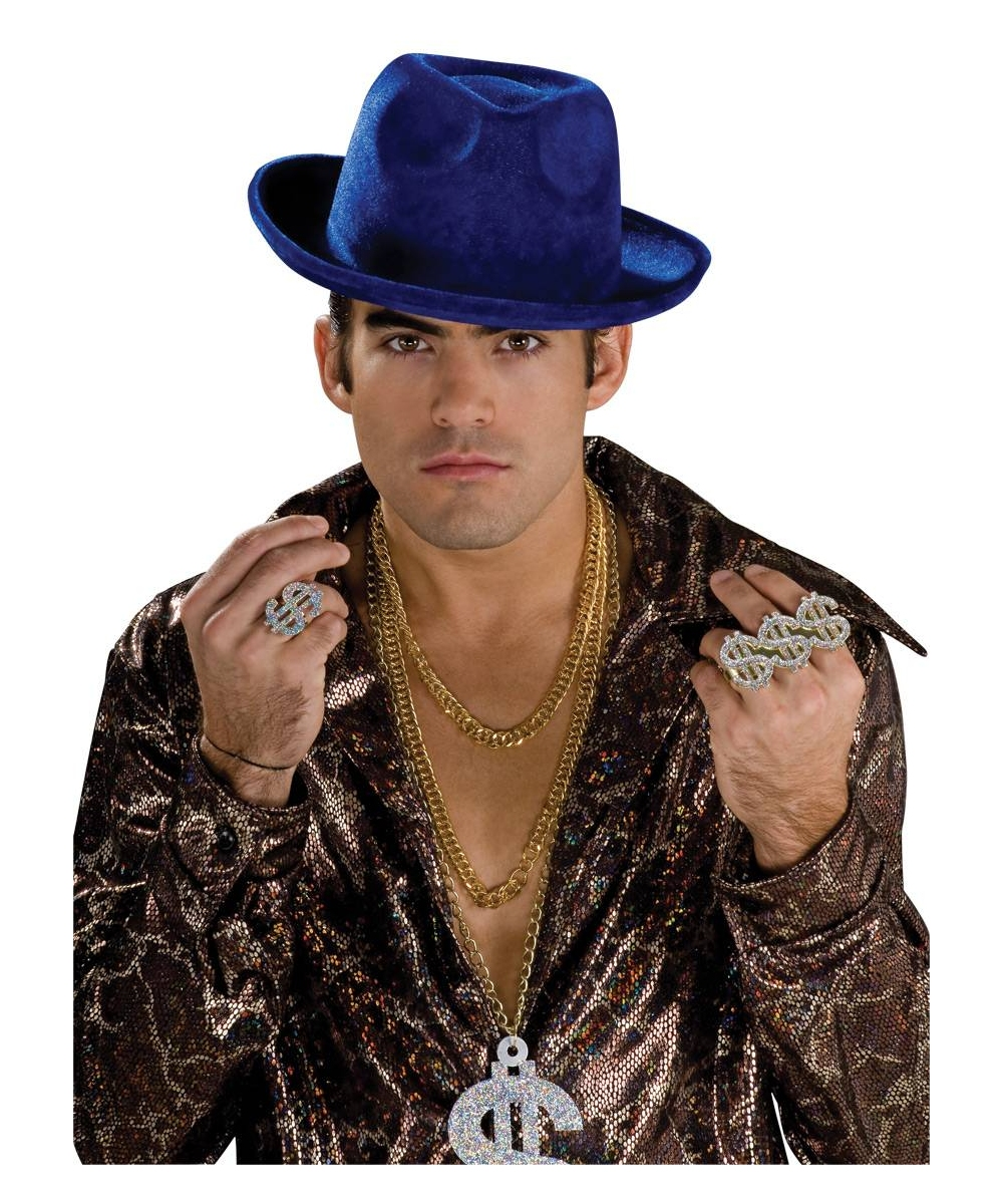Pimp Hat Blue Pimp Costumes