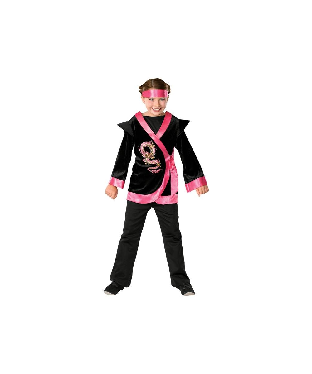 Dragon Pink Ninja Girl Costume - Girl Halloween Costumes