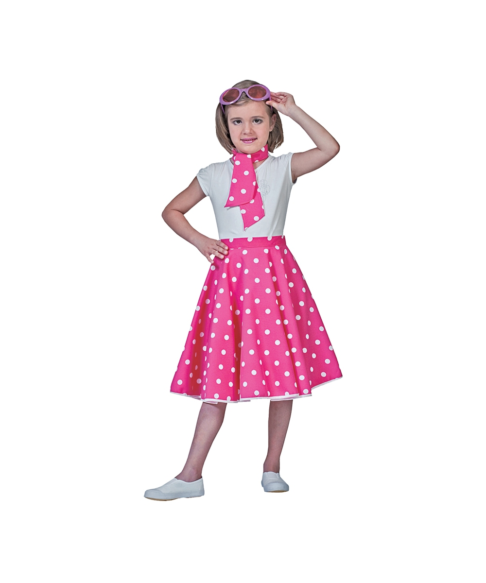 Pink Sock Hop Kids Costume