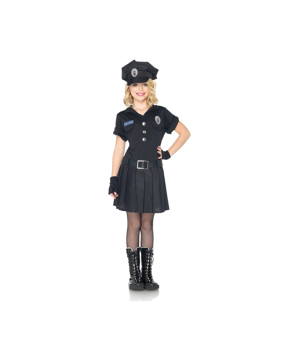 sc 1 st  Wonder Costumes & Playtime Police Kids Officer Costume - Girls Costumes