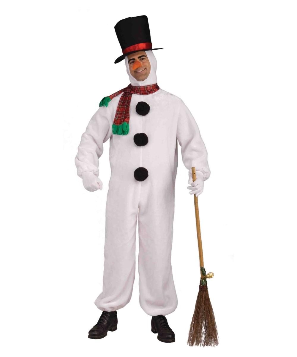 df15a593d8bac Adult Snowman Plush Costume - Men Halloween Costumes