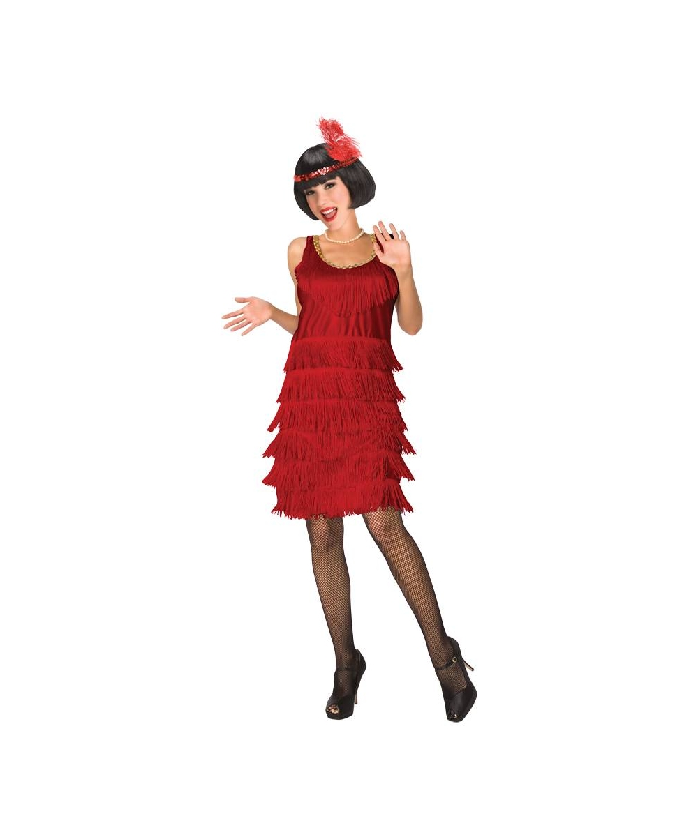 2236673a21 Flapper Red Adult Costume - 1920s Women Flapper Costumes