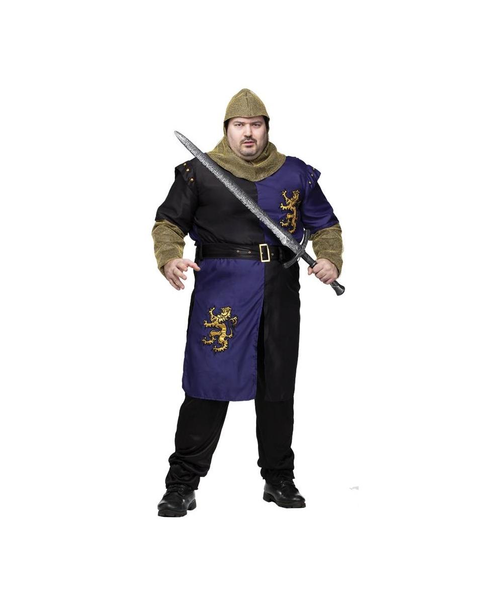sc 1 st  Wonder Costumes & Renaissance Knight Plus size Mens Costume