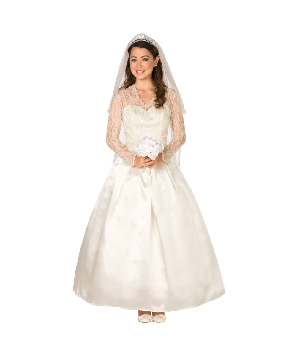 Adult Royal Wedding Dress Halloween Costume , Royal Costumes