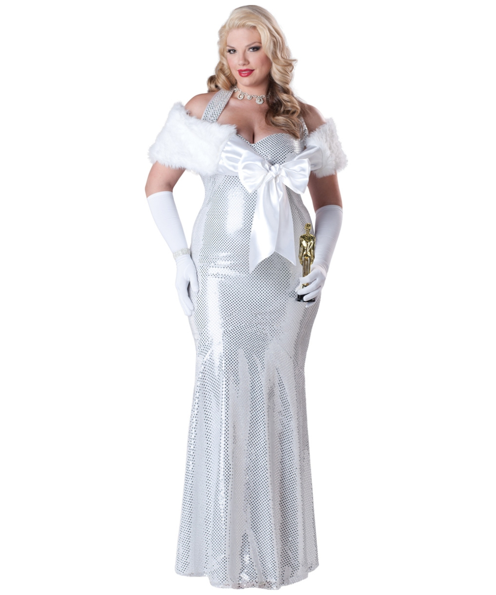 Adult Seductive Starlet plus size Movie Halloween Costume - Movie Costumes  sc 1 st  Wonder Costumes : white witch costumes  - Germanpascual.Com