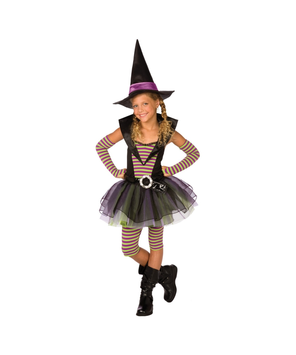 Striped Witch Kids Halloween Costume - Halloween Costumes