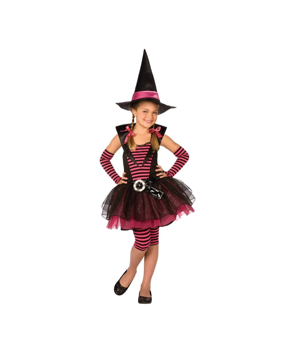 stripey witch kids halloween costume - girls costumes