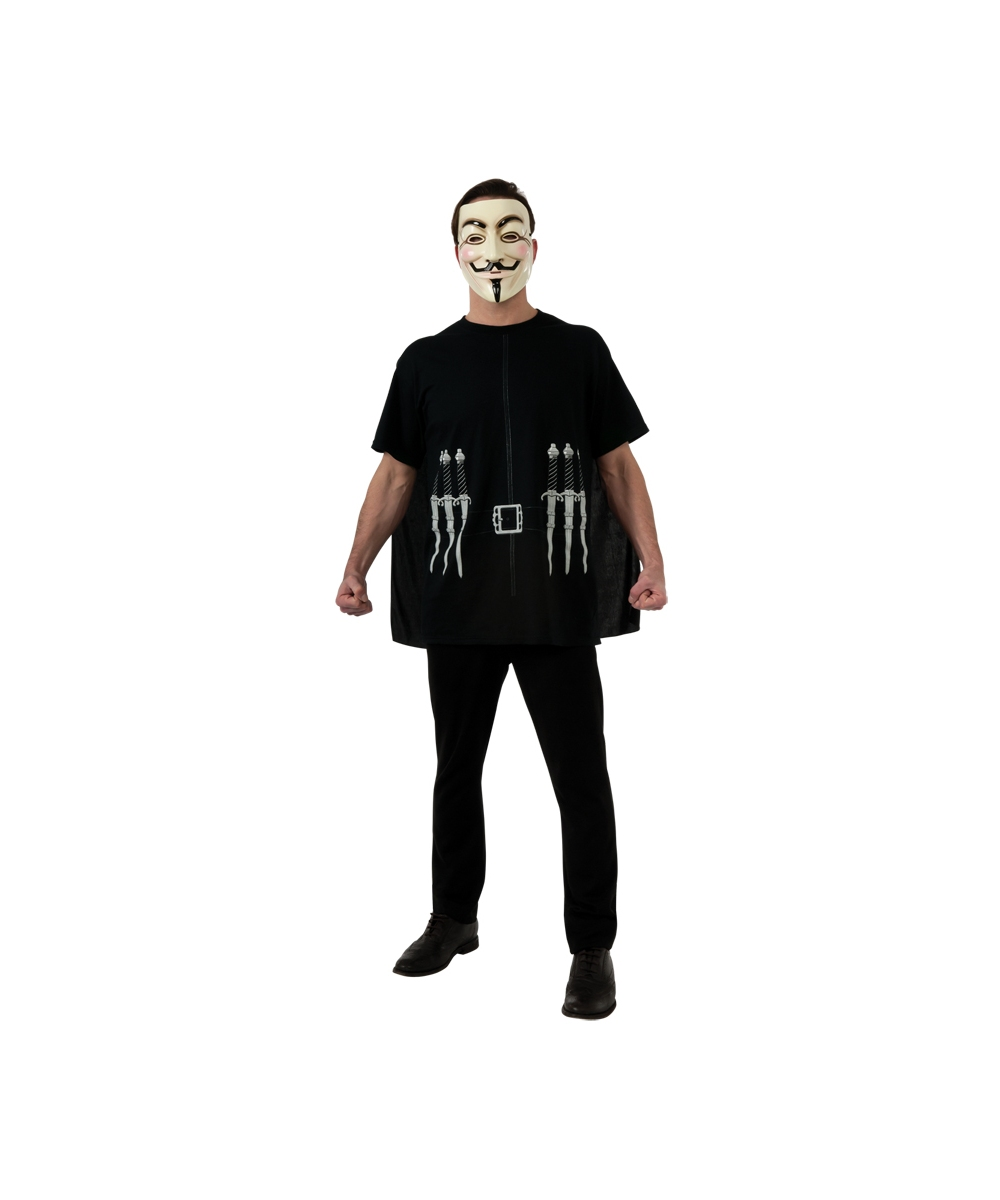 Adult V for Vendetta Movie Halloween Costume - Men Movie