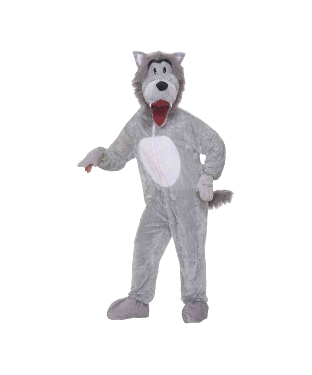 Wolf Mascot Adult Costume  sc 1 st  Wonder Costumes & Adult Wolf Mascot Animal Costume - Animal Mascot Costume for Adults